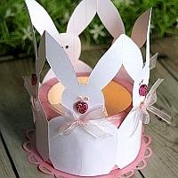 Easter Bunny Paper Tea Light Holder
