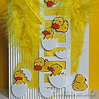 Easter Card - Cute Hatched Chicks Easter Card