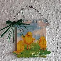 Easter Chick Craft Stick Picture