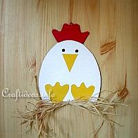 Paper Hen Decoration