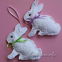 Washcloth Easter Bunnies